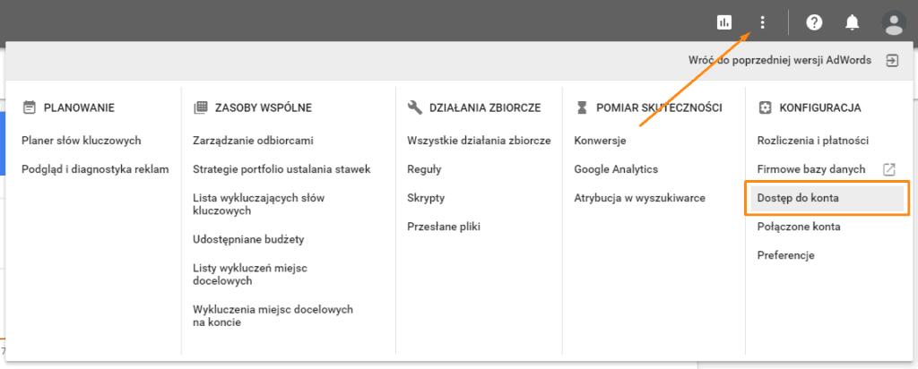 Jak udostępnić konto Google Ads? 3